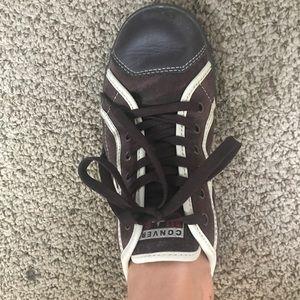 Brown Converse Allstar sneakers